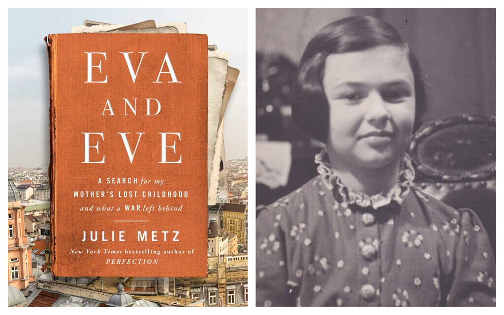 'Eva and Eve' by Julie Metz. (Courtesy); and a photo of Metz's mother Eva Singer as a child in January 1938, in Vienna. (Singer/Metz family collection at the Leo Baeck Institute, New York)