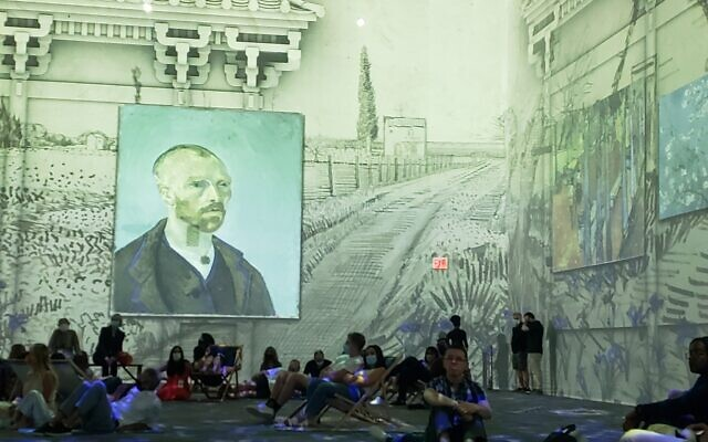 From 'Van Gogh: The Immersive Experience' in Lower Manhattan, New York City, June 2021 (Matt Lebovic/The Times of Israel)