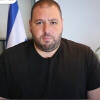 NSO Group CEO Shalev Hulio speaks with the Calcalist paper, April 20, 2020. (YouTube screenshot)