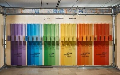 Part of a new exhibition on climate change at Tel Aviv University's Steinhardt Natural History Museum. (Dor Kedmi)