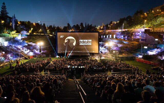 The opening of the annual Jerusalem Film Festival is on August 24, screening Ari Folman's 'Where is Anne Frank?' at Sultan's Pool, as in years past (Courtesy Dor Kedmi)