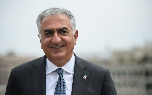 Reza Pahlavi, son of the last Shah of Iran, poses for a picture during an interview with AFP in Washington, DC, on August 3, 2021. (Photo by Nicholas Kamm / AFP)