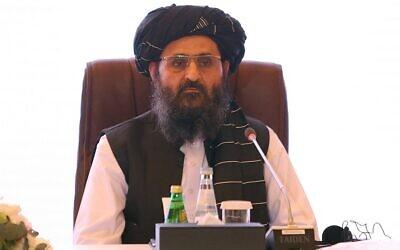 This photo from July 18, 2021 shows the leader of the Taliban negotiating team, Mullah Abdul Ghani Baradar, in Qatar's capital Doha. (Karim Jaafar/AFP)