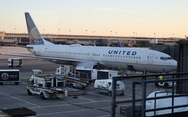 Illustrative. A United Airlines Boeing 737 plane is seen at the gate at Washington's Dulles International Airport in Dulles, Virginia, on March 2, 2021. (Daniel SLIM / AFP)