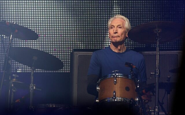 In this file photo taken on June 29, 2013, British musician Charlie Watts of The Rolling Stones performs on the Pyramid Stage on the fourth day of the Glastonbury Festival of Contemporary Performing Arts, near Glastonbury, southwest England. (Andrew Cowie/AFP)