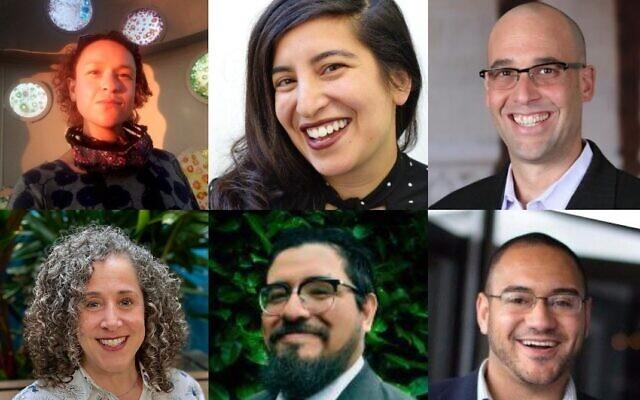 Top left, clockwise, Gage Gorsky, Dalya Perez, Ari Kelman, Tobin Belzer, Vincent Calvetti and Tory Brundage. (Courtesy)