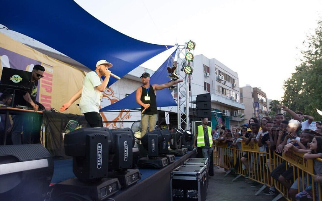 A contestant performs at an Israel Beatbox contest, in this undated photo. (Courtesy Israel Beatbox)
