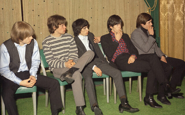 The Rolling Stones are seen in this 1965 press interview in New York City.  From left are:Brian Jones, guitar; Mick Jagger, lead vocals; Bill Wyman, bass; Keith Richards, guitar, backup vocals; and Charlie Watts, drums.  The Rolling Stones, an English musical group toured the United States in 1965.    (AP Photo)