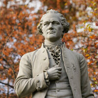 A statue of Alexander Hamilton in Central Park in New York. (AP Photo/Frank Franklin II, File)