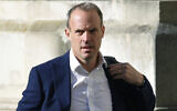 Britain's Foreign Secretary Dominic Raab arrives to attend a cabinet meeting of senior government ministers at the Foreign and Commonwealth Office FCO in London, on September 1, 2020. (Toby Melville/Pool via AP, File)