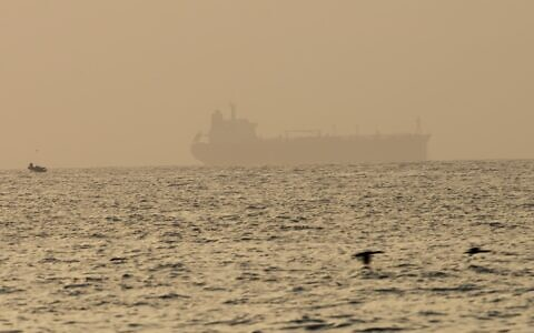 Illustrative: The oil tanker Mercer Street, which came under attack last week off Oman, is seen moored off Fujairah, United Arab Emirates, Wednesday, Aug. 4, 2021 (AP Photo/Jon Gambrell)