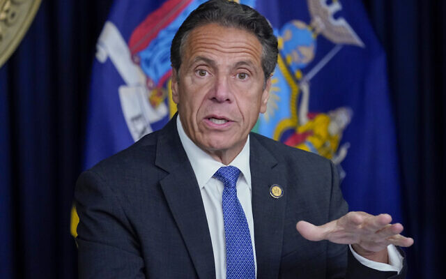 New York Governor Andrew Cuomo speaks during a news conference in New York, June 23, 2021. (AP Photo/Mary Altaffer, File)
