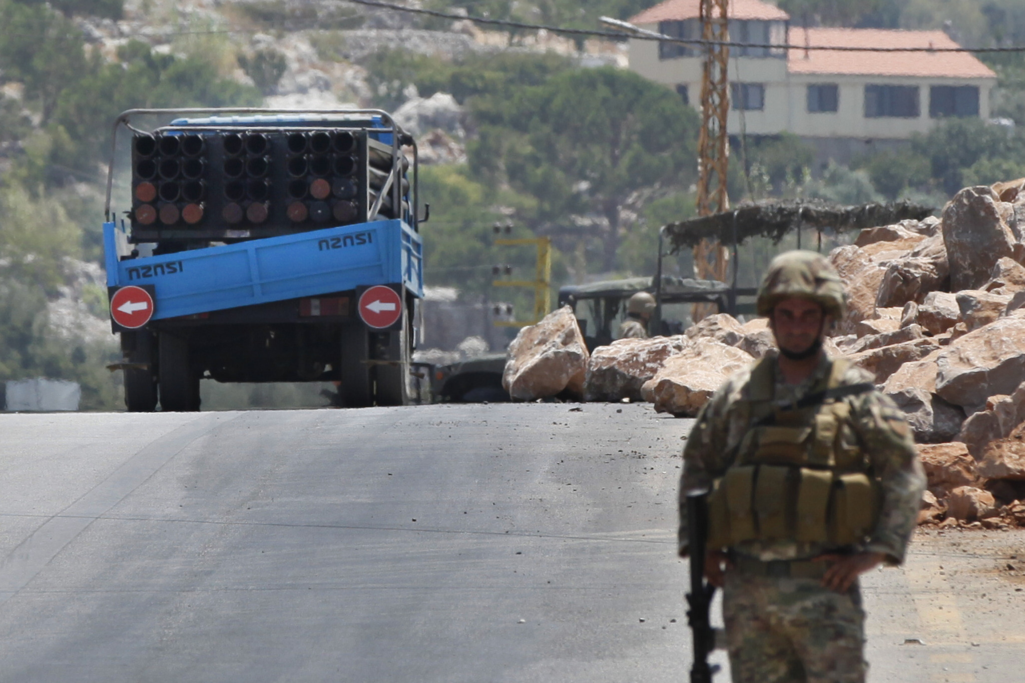 Lebanese Druze confront Hezbollah rocket-launch convoy after it fires at  Israel   The Times of Israel