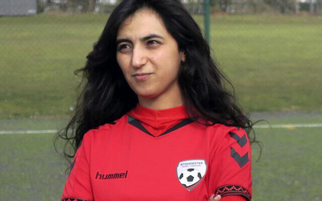 This March 8, 2016 file photo shows Khalida Popal, the former Afghanistan national women's team captain, in Copenhagen. (AP/Jan M. Olsen, File)