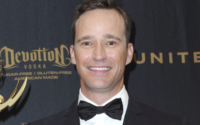 Producer Mike Richards poses in the pressroom at the 43rd annual Daytime Emmy Awards, on May 1, 2016, in Los Angeles. (Richard Shotwell/Invision/AP, File)