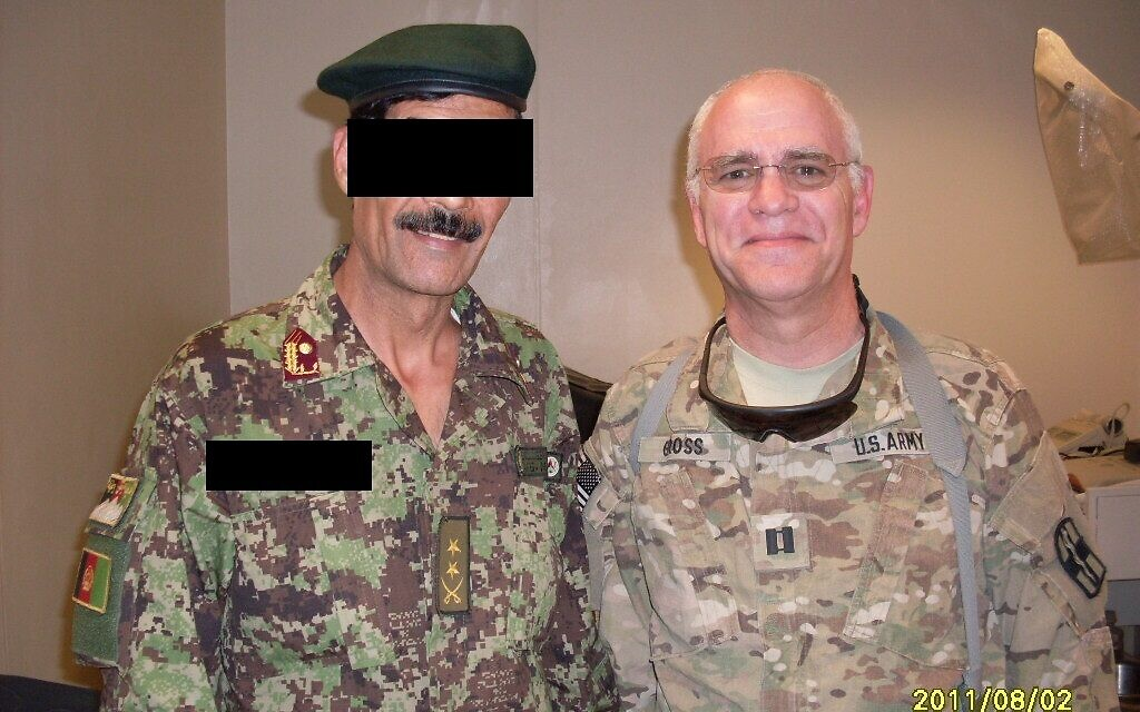 Captain Warren Gross (R) with an Afghan general (courtesy)