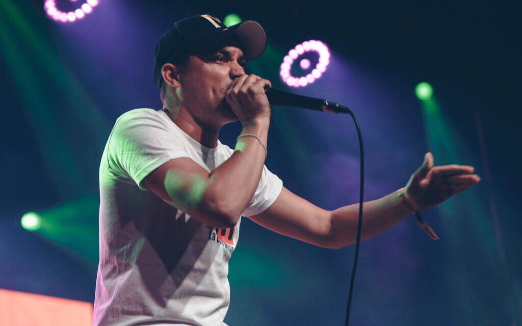 2015 World Beatbox Champion Alem at the 2019 contest. Alem said Max's wildcard made him worried about his chances of making the Grand beatbox Battle. (Courtesy Swissbeatbox)
