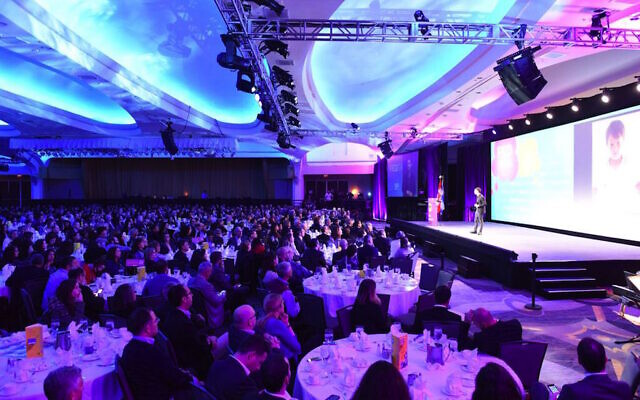 A view of the crowd at the Jewish Federations of North America General Assembly, November 10, 2015. (JFNA via JTA)