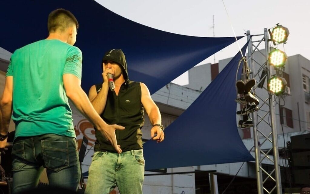 Contestants perform at an Israel Beatbox contest, in this undated photo. (Courtesy Israel Beatbox)