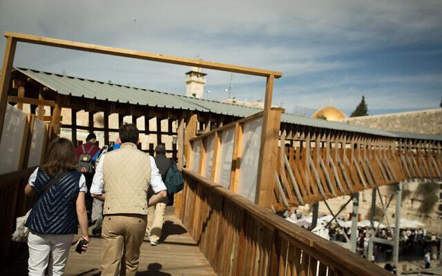 The Mughrani Bridge entrance to the Temple Mount compound in the Old City of Jerusalem, on November 07, 2016. (Sebi Berens/Flash90)