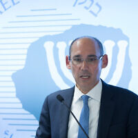 Bank of Israel Governor Amir Yaron speaks during a press conference at the Bank of Israel in Jerusalem on January 7, 2019. (Noam Revkin Fenton/Flash90)
