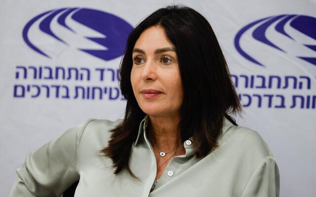 Likud's Miri Regev at a ceremony at the Transportation Ministry in Jerusalem, on June 14, 2021. (Olivier Fitoussi/Flash90)