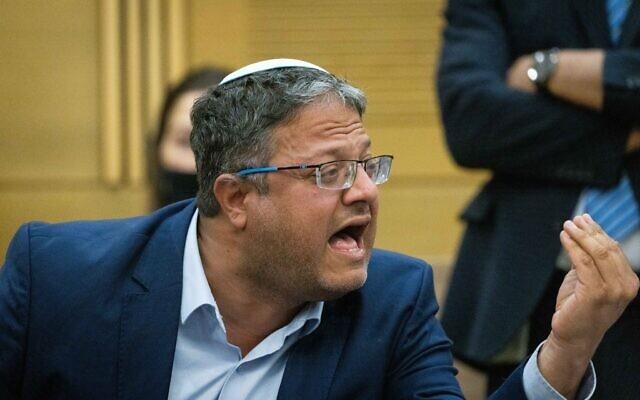 MK Itamar Ben Gvir at the Knesset, oמ June 22, 2021. (Yonatan Sindel/Flash90)
