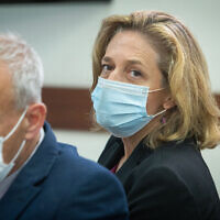 Dr. Sharon Alroy-Preis, head of public health services at the Health Ministry, at the Prime Minister's Office in Jerusalem, on July 14, 2021. (Noam Revkin Fenton/Flash90)