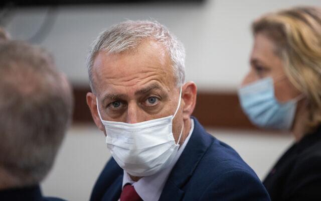 Health Minister Director-General Nachman Ash at the Prime Minister's Office in Jerusalem, July 14, 2021.(Noam Revkin Fenton/FLASH90)