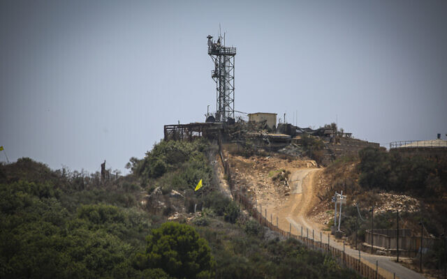 An IDF military outpost on the border between Israel and Lebanon, July 20, 2021. (David Cohen/Flash90)
