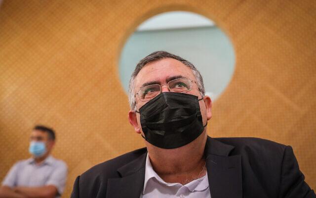 Likud MK David Bitan at the Supreme Court in Jerusalem on August 9, 2021. (Olivier Fitoussi/Flash90)