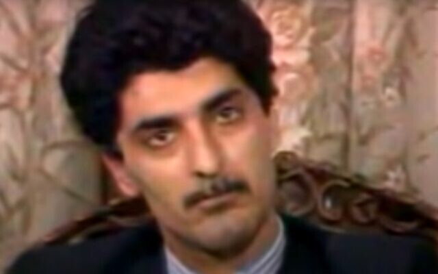 Farzad Bazoft in his televised 1989 'confession' for spying (Youtube screenshot)