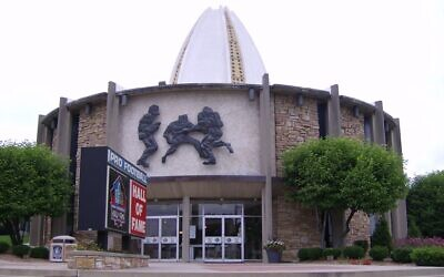 The Pro Football Hall of Fame in Canton, Ohio, June 27, 2006. (CC BY-SA 3.0 Coemgenus/Wikipedia)