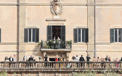 Guests attend the Kitty Spencer and Michael Lewis wedding at Villa Aldo Brandini in Frascati, Italy on July 24, 2021. (Ernesto Ruscio/GC Images)