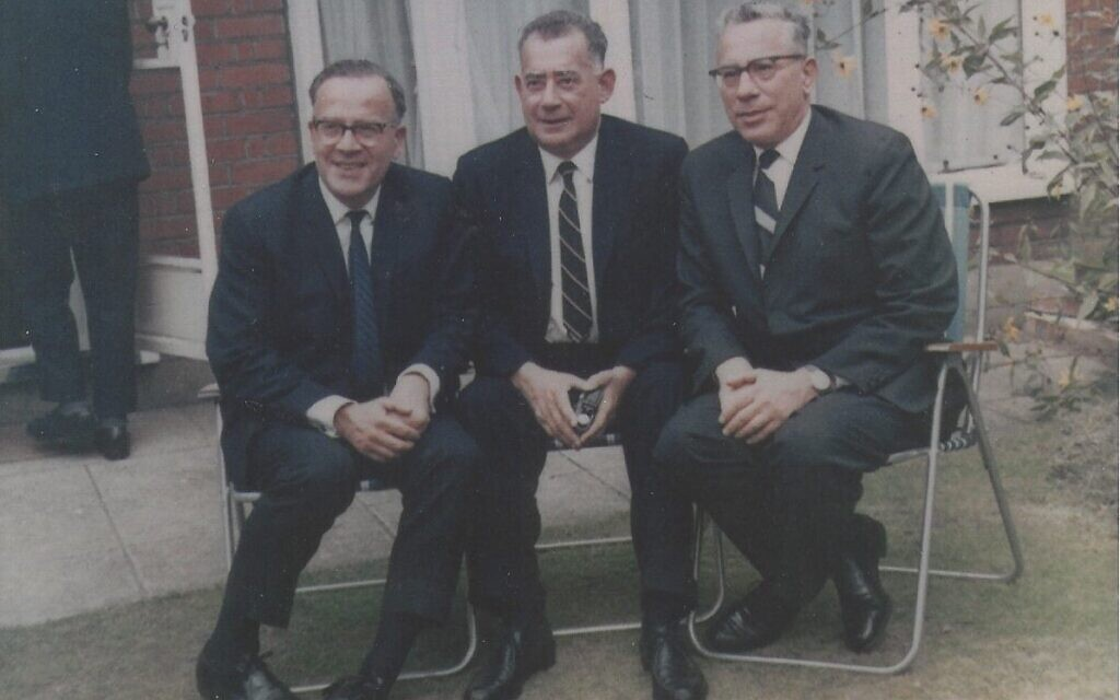 Fritz and Thea's sons Helmut, Gunther and Gebhard in London in 1967. (Courtesy of the Goldschmidt family)