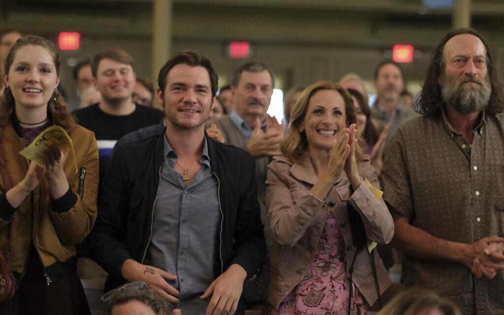 From left: Amy Forsyth, Daniel Durant, Marlee Matlin and Troy Kotsur in 'CODA.' (Courtesy Apple TV+)