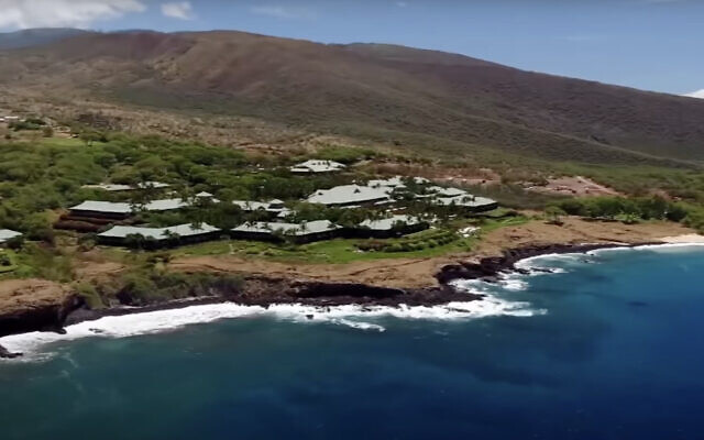 The Hawaiian island of Lanai, 98 percent of which is owned by Jewish-American billionaire Larry Ellison. (Screen capture: YouTube)