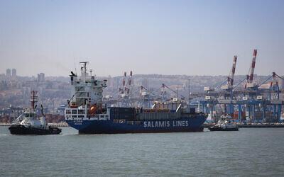 Haifa bay, April 24, 2018. (Yossi Zamir/Flash90)