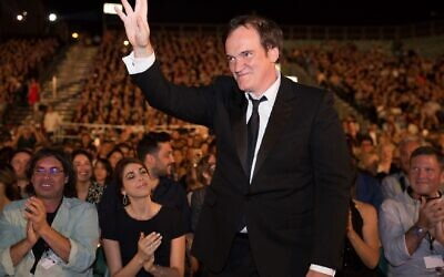 Director Quentin Tarantino at the opening of the Jerusalem Film Festival on August 24, 2021 (Courtesy Jerusalem Cinematheque)