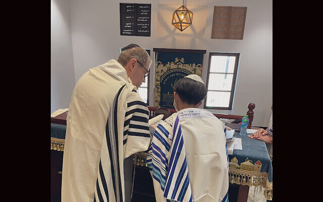 A photo of the bar mitzvah boy in Bahrain. (Courtesy of Association of Gulf Jewish Communities)