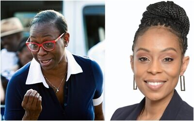 Nina Turner (L) and Shontel Brown, who square off in the Democratic primary for Ohio's 11th District on August 3, 2021. (AP, Shontel Brown For Congress Facebook Page)