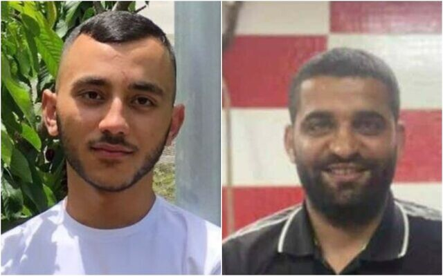 Composite photo: 18-year-old Anas Al-Wahwah (L) and 26-year-old Ibrahim Abu Amra, both shot dead in separate gun violence incidents on August 28, 2021 (Courtesy)
