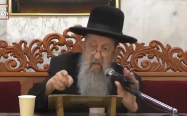 Rabbi Ben Zion Mutzafi (Screenshot/Kikar HaShabbat)