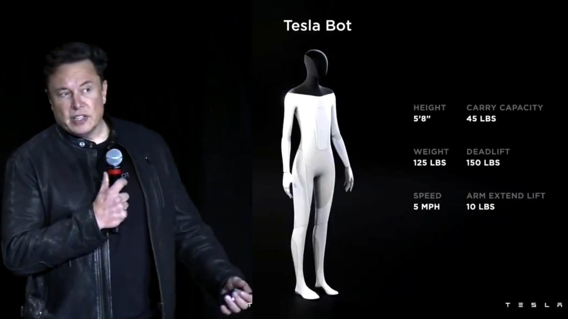 Elon Musk unveils an AI humanoid Robot
