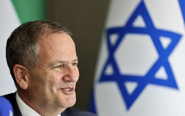 Ilan Sztulman Starosta, head of mission at Israel's consulate in Dubai, at his office on August 23, 2021. (Karim SAHIB / AFP)