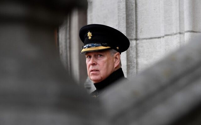 Britain's Prince Andrew, Duke of York, attends a ceremony commemorating the 75th anniversary of the liberation of Bruges in Bruges, on September 7, 2019. (John Thys/AFP)