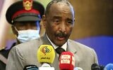 In this file photo taken on September 26, 2020, Sudan's Sovereign Council chief General Abdel Fattah al-Burhan speaks during the opening session of the First National Economic Conference in the capital Khartoum. (Ashraf Shazly/AFP)