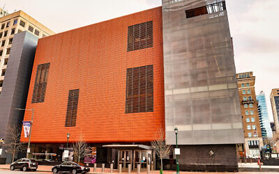 A view of the National Museum of American Jewish History in Philadelphia, March 17, 2020. (Gilbert Carrasquillo/Getty Images/JTA)