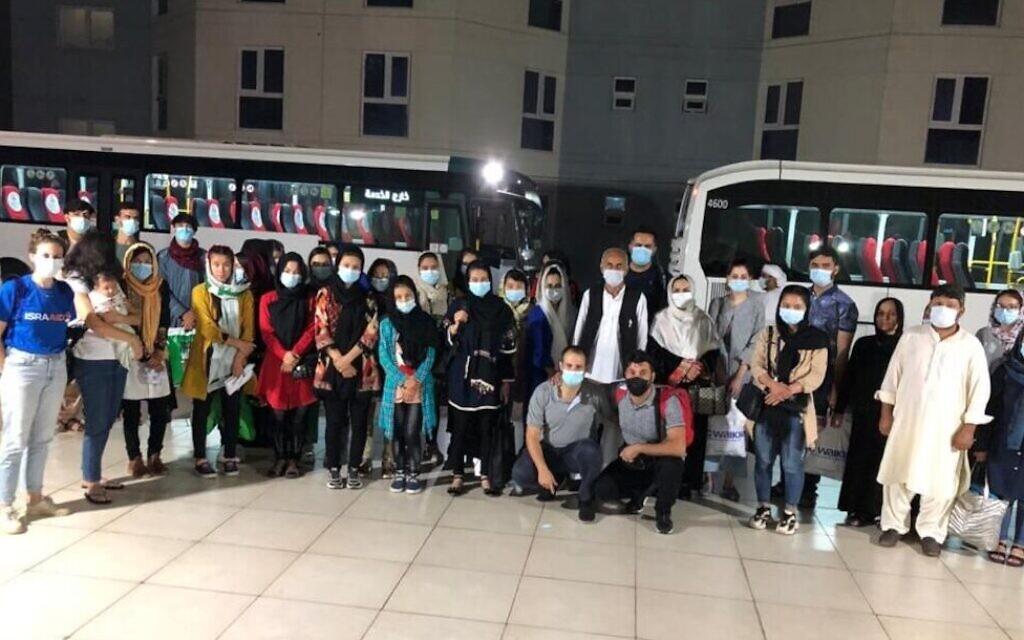 Israeli philanthropists, IsraAID help dozens flee Afghanistan for UAE