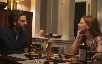 Oscar Isaac and Jessica Chastain in 'Scenes From a Marriage.' (Jojo Whilden/HBO/ via JTA)